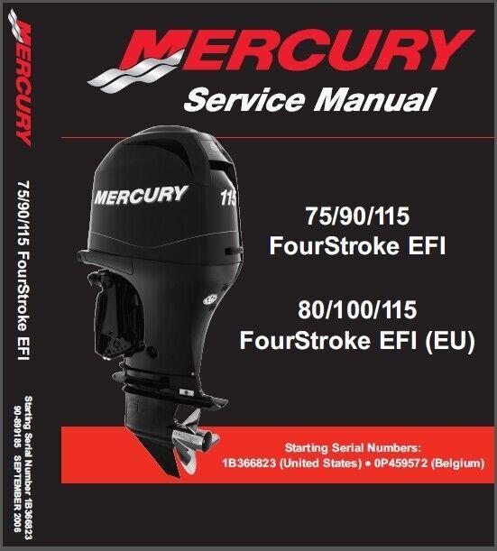 Mercury 75 90 115 Efi 80 100 115 Eu Efi Outboard Manual Guide