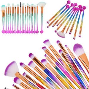 16pcs unicorn makeup brushes set eyeshadow eyeliner face