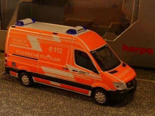 1 87 Herpa MB Sprinter Kasten Feuerwehr FW Stuttgart 931335  | Genial