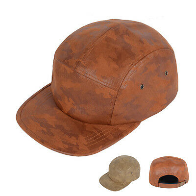 Coated Fabric Camouflage Camo 5Panel Camp Cap Bicycle Hat Casquette Baseball Cap