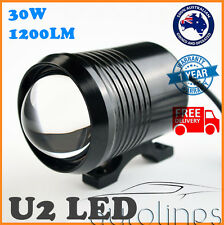 U2 LED CREE 30W 12V Motorcyle Bike Spotlight Driving Fog Spot Globe Bulb 1200LM