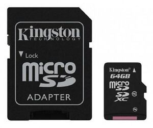 MICRO-SD-64GB-KINGSTON-CL10-45MB-S-SCHEDA-CELLULARE-TABLET-IPHONE