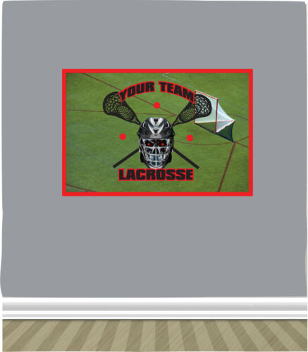 Lacrosse Field w// YOUR TEAMS Name /& Colors PHOTO TEX Removable Cling Wall Decor