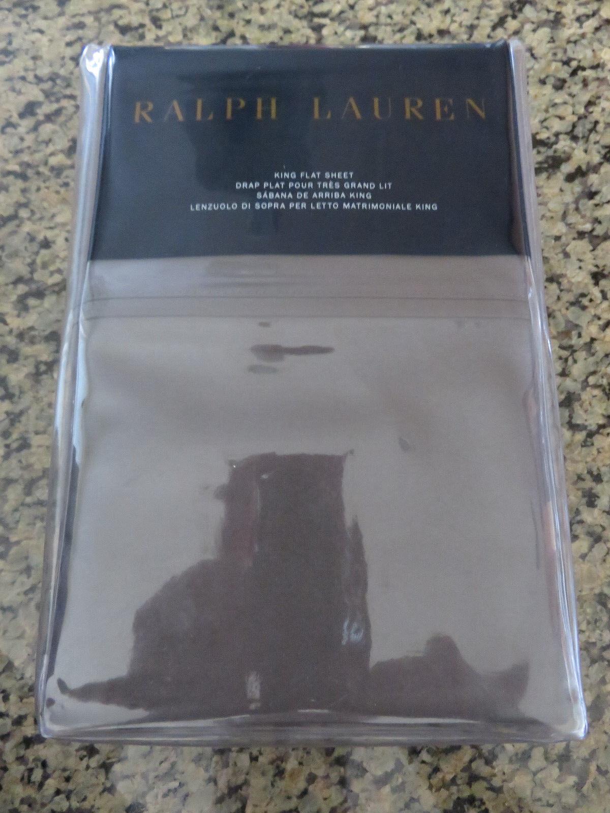 RALPH LAUREN Home Flat Sheet in King, Full and Twin Größes in Modern Charcoal
