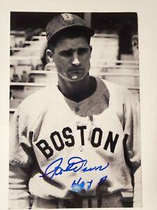 Bobby Doerr Boston Redsox Autographed 4x6 Photo HOF