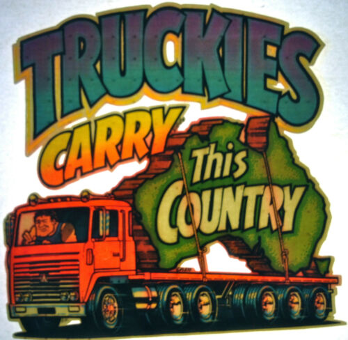 Truckies carry this country  80s vintage retro tshirt transfer print new NOS