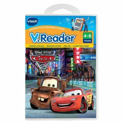 NEW vtech V.Reader Game Disney Pixar Cars 2 ages 4-6 still sealed