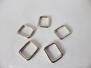 Metal Rectangle Rings Chrome finish buckles for webbing: Internal 15.29mm per 15