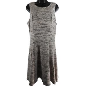 IVANKA-TRUMP-Pink-amp-Black-Sleeveless-A-Line-Dress-Women-039-s-Size-16