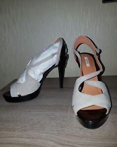 Details zu NEU! GEOX Peeptoes Pumps High Heels Damen Schuhe Gr. 38