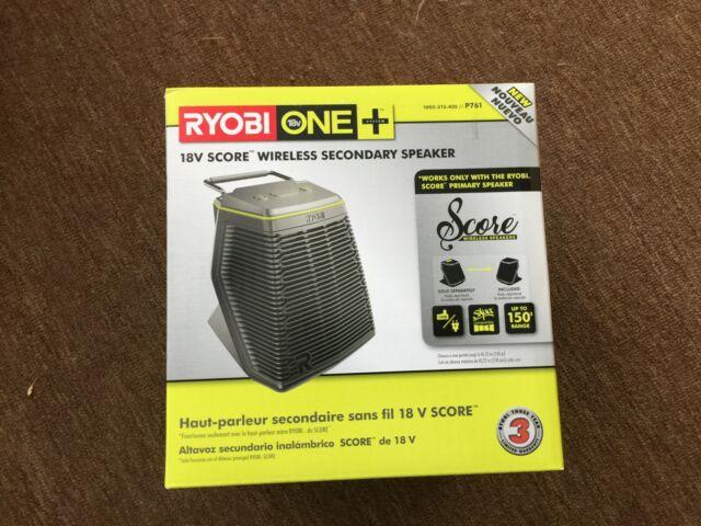 Ryobi P761 18-Volt ONE Score Wireless Secondary Speaker