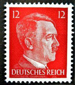 WW2 REAL NAZI 3rd REICH ERA GERMAN STAMP ADOLF HITLER REICHSKANZLER 12rf MNH