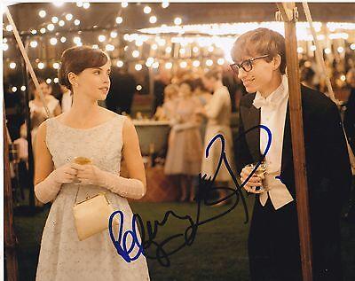 EDDIE REDMAYNE & FELICITY JONES SIGNED 8X10 PHOTO THEORY OF EVERYTHING COA E