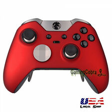 Soft Touch Red Front Housing Shell Faceplate Parts for Xbox One Elite Controller