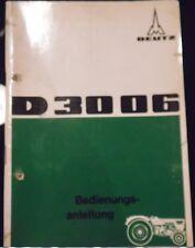 Deutz Schlepper D 3006 Bedienungsanleitung