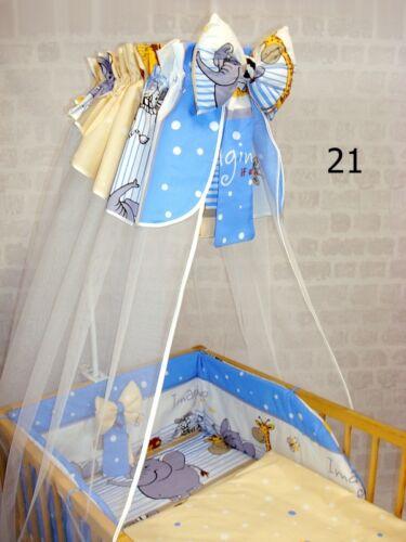 Lux Cuna Cortina Dosel para Cama de bebé de algodón de gasa con arco 320 cm Blanco