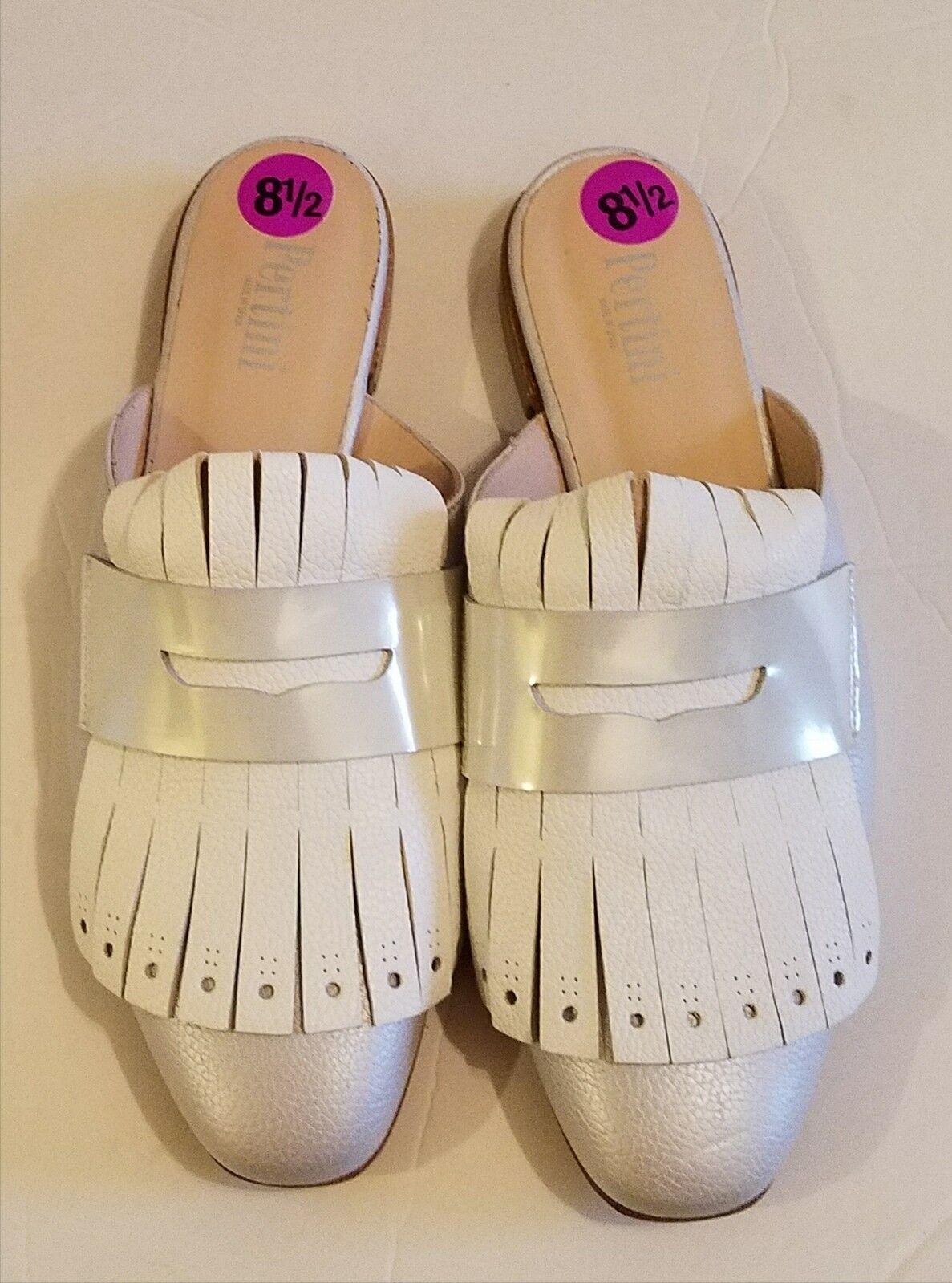 Pertini Mocasines de Mujer Mulas Talla Zapatos blancoo gris Talla Mulas 39.5 (8.5) como es ad484a