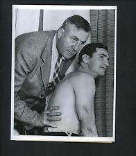 Sammy Baugh & Dr. Wilbur Bohm 1945 Press Photo Washington Redskins