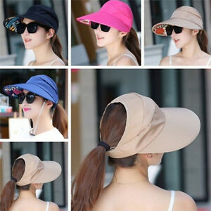 Women-UV-Protect-Foldable-Large-Brim-Visor-Cap-Beach-Sun-Hat-Outdoor-YJ