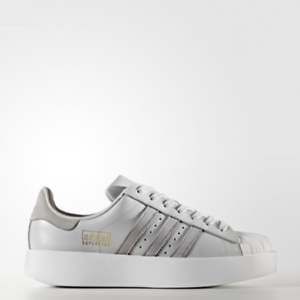 Image is loading New-Adidas-Original-Womens-SUPERSTAR-BOLD-GREY-WHITE-