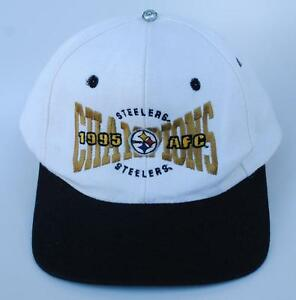 Vintage-PITTSBURGH-STEELERS-1995-AFC-CHAMPIONS-One-Size-Baseball-Cap-Hat