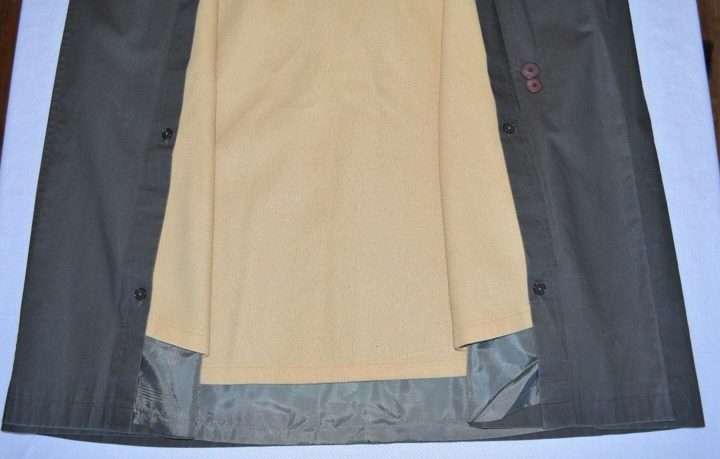 Bill Blass Trench Coat Removable Wool Lining Wome… - image 4