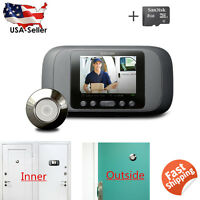 2.8 Lcd Visual Monitor Door Peephole Peep Hole Wireless Viewer Camera Video