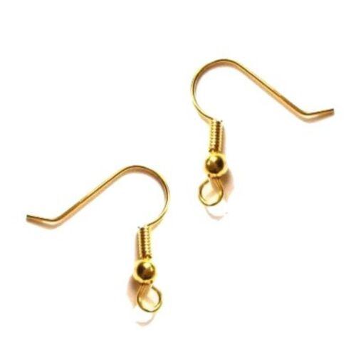 200 un // 100 Pares De Metal earwires pescado gancho pendientes Cables-Diferentes Colores