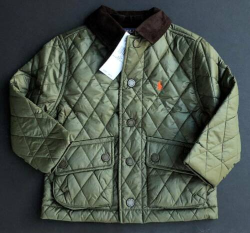 Polo Ralph Lauren Kids 2T 3T Barn Coat Jacket Diamond Quilted Coat NEW