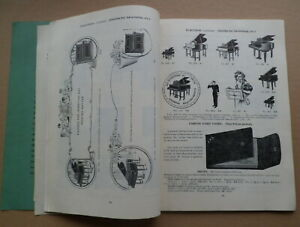 H-J-FLETCHER-ANTIQUE-1930s-PIANO-PARTS-CATALOGUE-MUSICAL-INSTRUMENTS-GRAMOPHONES