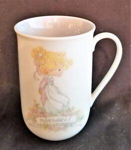 Vintage-1989-Precious-Moments-Collection-034-Margaret-034-Ceramic-Name-Coffee-Mug