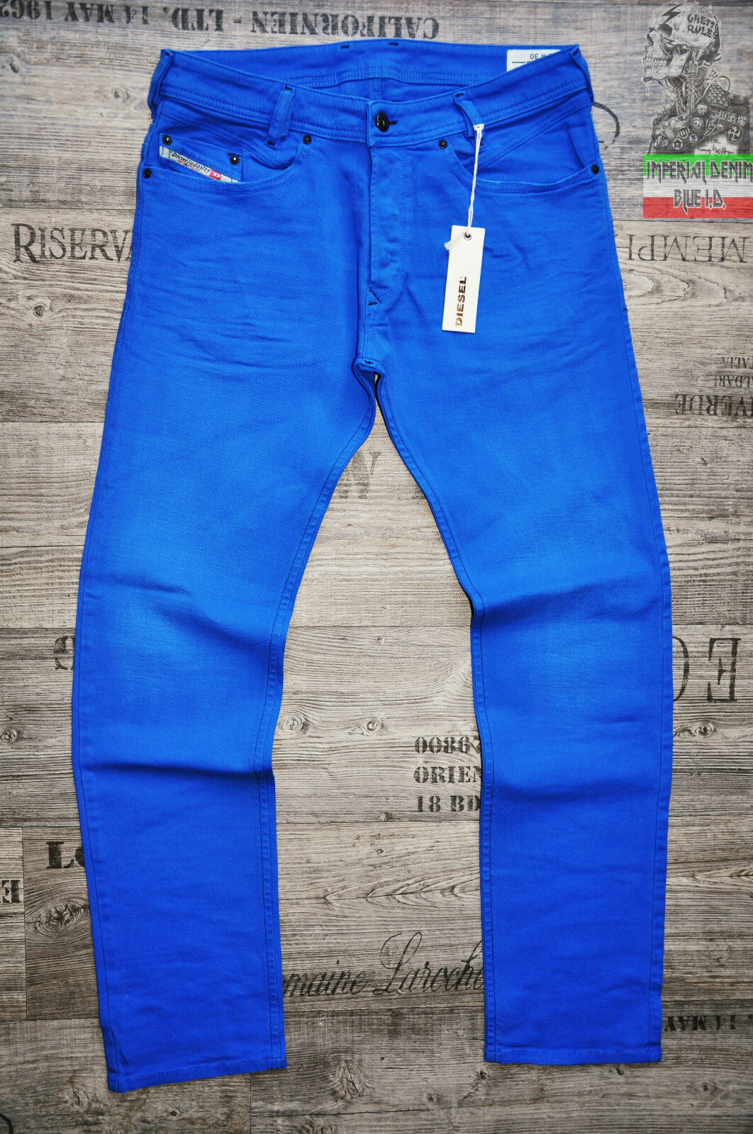 DIESEL IAKOP 111D 32 33 34 36 L32 SLIM TAPErot TAPErot TAPErot MENS JEANS HOT Blau NEW STRETCH f61951