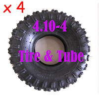 4 X3.50/4.10 - 4 Tires Tyre & Tube 49cc Gas Electric Scooter Go Kart Bigfoot