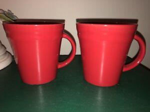 Image Is Loading 2 Red Rachel Rachael Ray Double Ridge Coffee