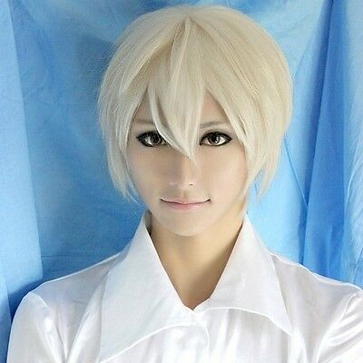 1011 Axis Powers Hetalia Aph Russia Ivan Light Gold Short Party Cosplay Wig