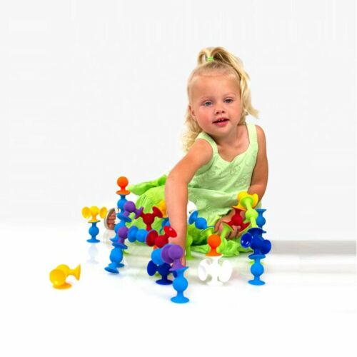 New Soft Building Blocks kids DIY Pop squigz sucker Funny Silicone block Model