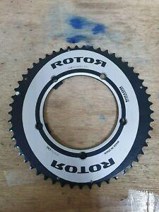 Rotor-Noq-Aero-130BCD-x5-53T-Outer-Chainring-Black-39T-inner-ring-road-bike-TT