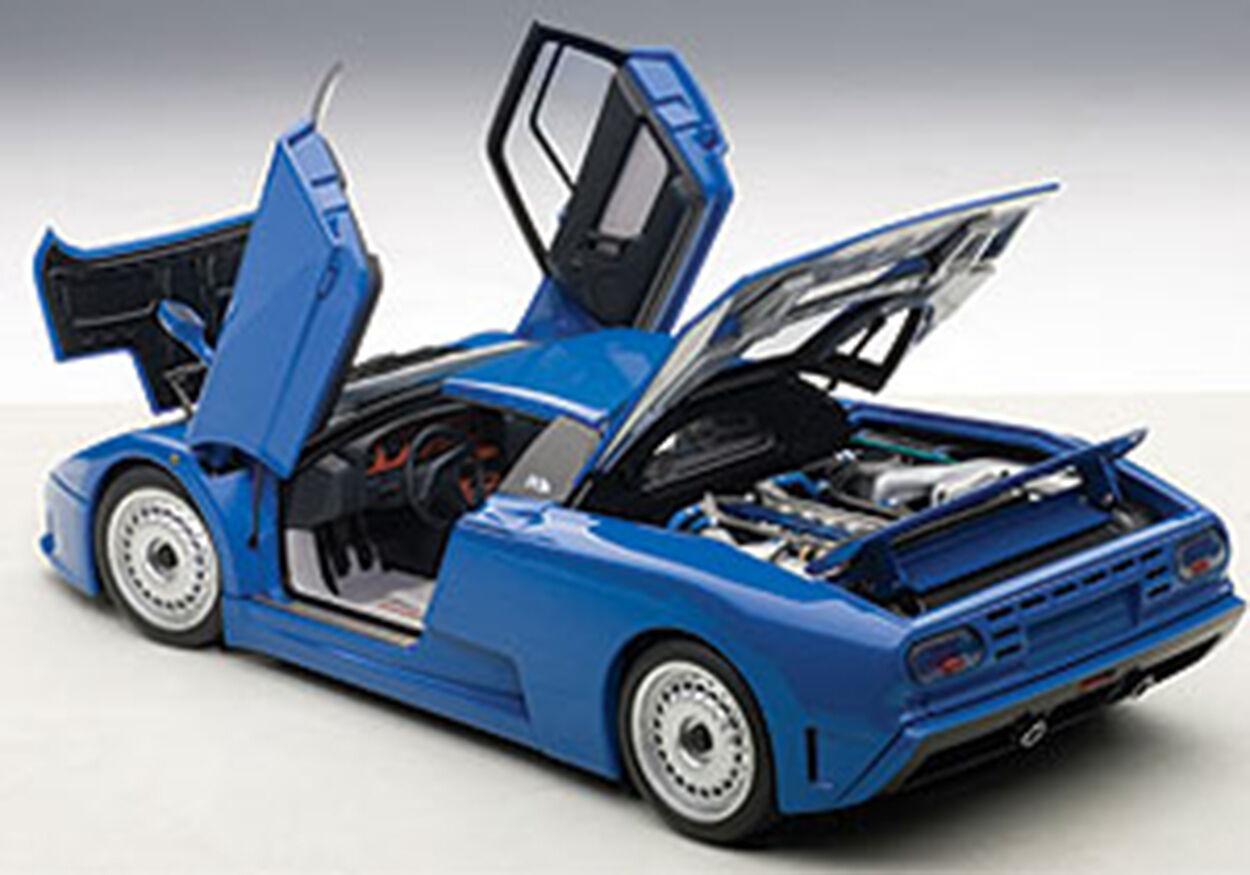 Autoart BUGATTI EB110 GT DARK blueeE color in 1 18 Scale. New Release  In Stock