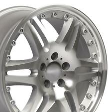 18 Rims Fit Mercedes Benz C E S Class Clk Cls Et35 Silver Machd Wheel Set