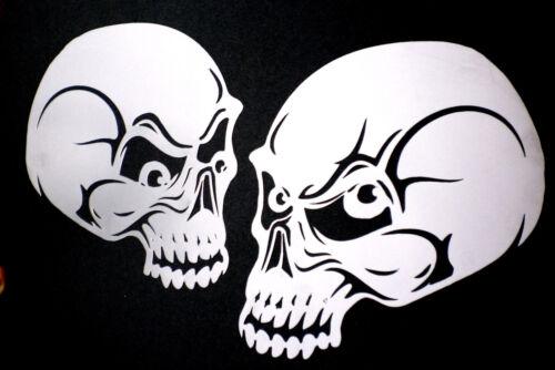 high detail airbrush stencil two  skulls  FREE UK POSTAGE