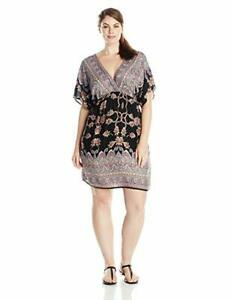 Details about She\'s Cool Junior\'s Plus-Size Printed Rayon V-Neck Dress # 3X