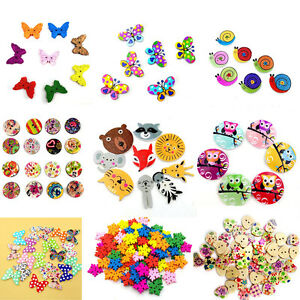50-100Pcs-2-Holes-Colorful-Mixed-Wooden-Buttons-Sewing-DIY-Craft-Scrapbooking