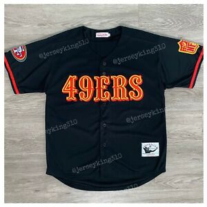 Details about 49ers Jersey Throwback Style Vintage Mitchell And Ness Button Up Size L