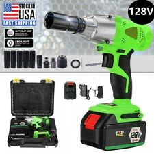 12 Cordless Electric Impact Wrench Rattle Nut Gun Tools With Li Ion Battery Us