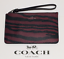 Coach-F39094-Dark-Red-Tiger-Stripe-Small-Wristlet thumbnail 1