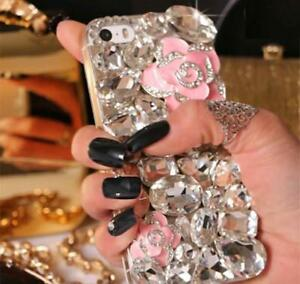 NEW-DELUX-COOL-LUXURY-BLING-PINK-ROSE-DIAMANTE-CASE-VARIOUS-MOBILE-PHONE-7-8-9