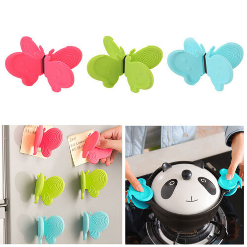 Lovely Butterfly Shaped Silicone Anti-scald Devices Kitchen Tool Home Useful d