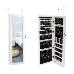 Free Standing Full Length Mirror Jewelry Armoire Storage ...