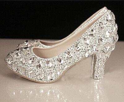 Mid Heel Gorgeous Wedding Evening Party Queen shoes High Heels
