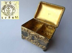 Image Is Loading Old Postage Stamp Dispensers Box Derby Silver Co